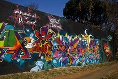 Arte urbana - parede dos grafittis - grafittis sexta-feira Fotos de Stock Royalty Free