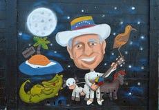 Arte urbana tributo a Simon Diaz Fotografie Stock Libere da Diritti