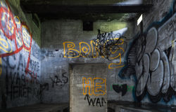 Arte urbano, casa abandonada foto de archivo libre de regalías