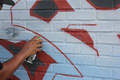Arte urbano de Graffitti Foto de archivo libre de regalías