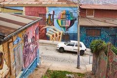 Arte urbano de Valparaiso Imagen de archivo libre de regalías