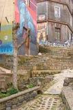Arte urbano de Valparaiso Foto de archivo libre de regalías
