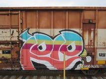 Arte urbano del coche de tren Imagen de archivo libre de regalías