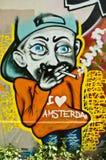 Arte urbano - fumador Fotografía de archivo libre de regalías