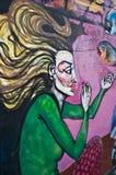 Arte urbano - mujer mayor Imagen de archivo