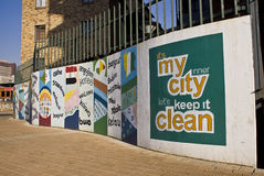 Arte urbano - pared de Grafiti Foto de archivo libre de regalías