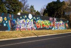 Arte urbano - pared de la pintada Imágenes de archivo libres de regalías