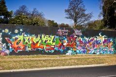 Arte urbano - pared de la pintada - pintada viernes Foto de archivo