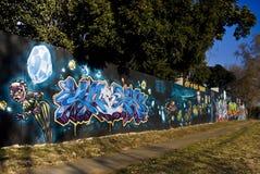 Arte urbano - pared de la pintada - pintada viernes Foto de archivo libre de regalías