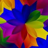 Arte variopinta astratta della pianta del fiore della primavera royalty illustrazione gratis