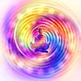 Arte variopinta dell'estratto di potere di meditazione royalty illustrazione gratis