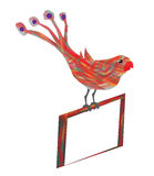 Arte variopinta dell'uccello royalty illustrazione gratis