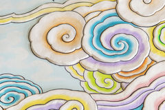 Arte variopinta della nuvola nello stile cinese Immagine Stock