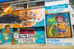 Arte variopinta della via dei graffiti a Cartagine Fotografia Stock