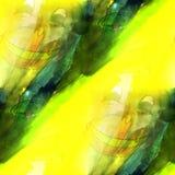 Arte verde claro, amarillo, textura del fondo del mono Imágenes de archivo libres de regalías