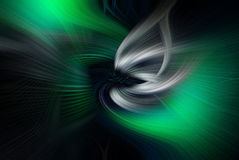 Arte verde di turbinio Immagini Stock