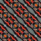 Arte verde inconsútil colorido de Ikat Diamond Seamless Pattern Background Ethnic de la tela Fotografía de archivo