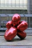Arte vermelha do ballon de Jeff Koons Fotos de Stock Royalty Free