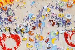 Arte violenta variopinta di carta Fotografia Stock Libera da Diritti