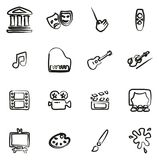Arte y Art Equipment Icons Freehand libre illustration