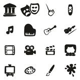 Arte y Art Equipment Icons Freehand Fill libre illustration