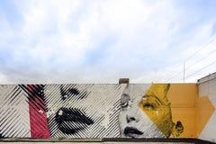 Arte y murales de la calle en el Midtown Miami Foto de archivo libre de regalías