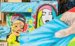 Arte y pintada de la calle en la pared en Potenza, Italia Imágenes de archivo libres de regalías