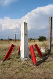 Artefackt on border tripoint between Slovakia, Austria and Hungary Stock Image