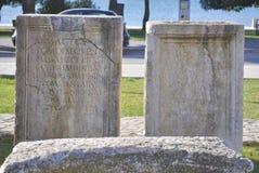 Artefact av romerskt forum Arkivfoto
