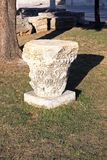 Artefact from Roman empire. Archaeological artefact from Roman empire exposed in the park in Zadar royalty free stock photos