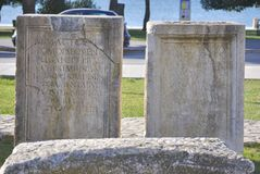 Artefact of Roman forum Stock Photo