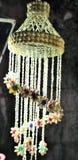 Artefacten zoals lampen handcraft van zout worden gemaakt dat stock foto