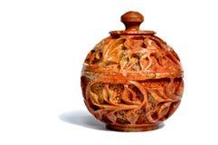 Artefacto de mármol indio del tarro Imagen de archivo libre de regalías
