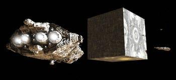 Artefacto extranjero en espacio Fotos de archivo