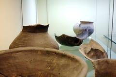 Artefactos Clay Pots del lago Neuchatel Suiza Imagen de archivo libre de regalías
