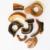 Artefactos de cerámica antiguos Foto de archivo libre de regalías