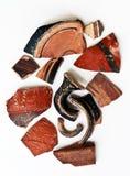 Artefactos de cerámica antiguos Fotografía de archivo libre de regalías