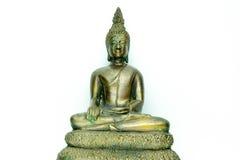 artefakta tła Buddha czysty linie metal statua prostego biel Zdjęcia Stock