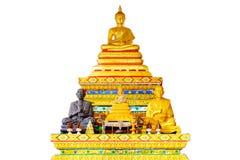 artefakta tła Buddha czysty linie metal statua prostego biel Fotografia Stock