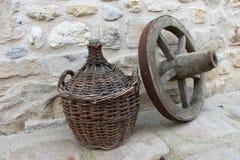 Artefakte des Weins und der Reise Lizenzfreies Stockbild