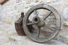 Artefakte des Weins und der Reise Lizenzfreie Stockfotografie