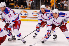 Artem Anisimov, Dan Girardi and Ryan Callahan Stock Photos