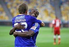 Artem Kravets and Taye Taiwo of Dynamo Kyiv Royalty Free Stock Image
