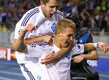 Artem Kravets and Vitaliy Buyalskiy of FC Dynamo Kyiv Royalty Free Stock Image