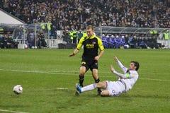 Artem Milevskiy of Dynamo Kyiv and Ragnar Klavan o Royalty Free Stock Photos