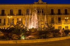 artemide miasta fontanny historyczny Italy sarausa Sicily siracusa Syracuse Syracuse Siracusa, Sarausa fotografia stock