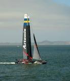 Artemis που συναγωνίζεται sailboat ομάδων Στοκ φωτογραφίες με δικαίωμα ελεύθερης χρήσης