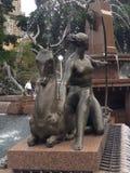 Artemis fontanny statua Fotografia Royalty Free