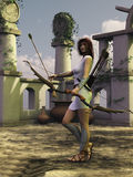 Artemis the huntress Royalty Free Stock Photos