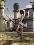 Artemis o huntress ilustração stock